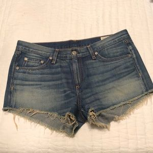 Women's rag and bone denim cut off shorts